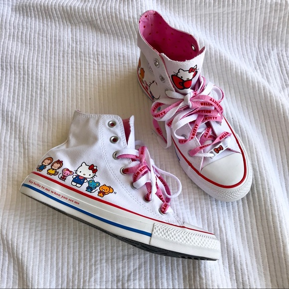 25f3527be97c Converse Shoes - NEW  Converse  Chuck Taylor x Hello Kitty Hi Tops